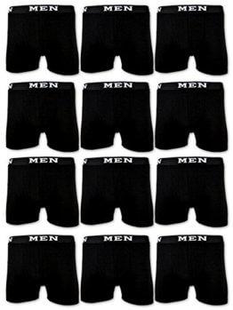 4 | 10 | 20 Boxershorts Baumwolle MEN Herren Retro Shorts Unterhosen (XXL | 8, 10 Stück | Schwarz) -