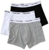 Calvin Klein Herren Boxershorts TRUNK, 3er Pack U2662G, Ohne Eingriff, Gr. 5 M, Schwarz/Weiß/Grau (998) -