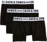 JACK & JONES Herren Boxershorts Sense Trunks 3-Noos, 3er Pack, Gr. Large, Schwarz -