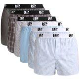 Lower East Herren American Boxershorts mit Gummibund, 6er-Pack, Mehrfarbig, XL -