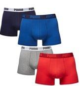 Puma Herren Boxer Basic Unterhosen 4er Pack in verschiedenen Farben 521015001 (true blue (420)/red-grey (072), L) -