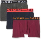 JACK & JONES Herren Boxershorts Jaclichfield Trunks 3 Pack, 3 Violett (Burgundy), Medium -