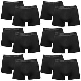 PUMA Herren BASIC Boxer Boxershort Unterhose 12er Pack black / black 230 - L -
